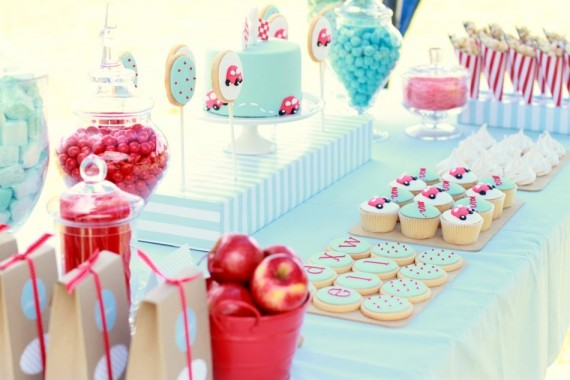 Red and blue children's birthday party