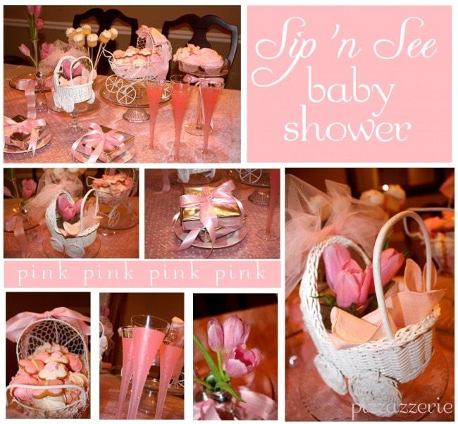 Pink Sip 'n See Baby Shower