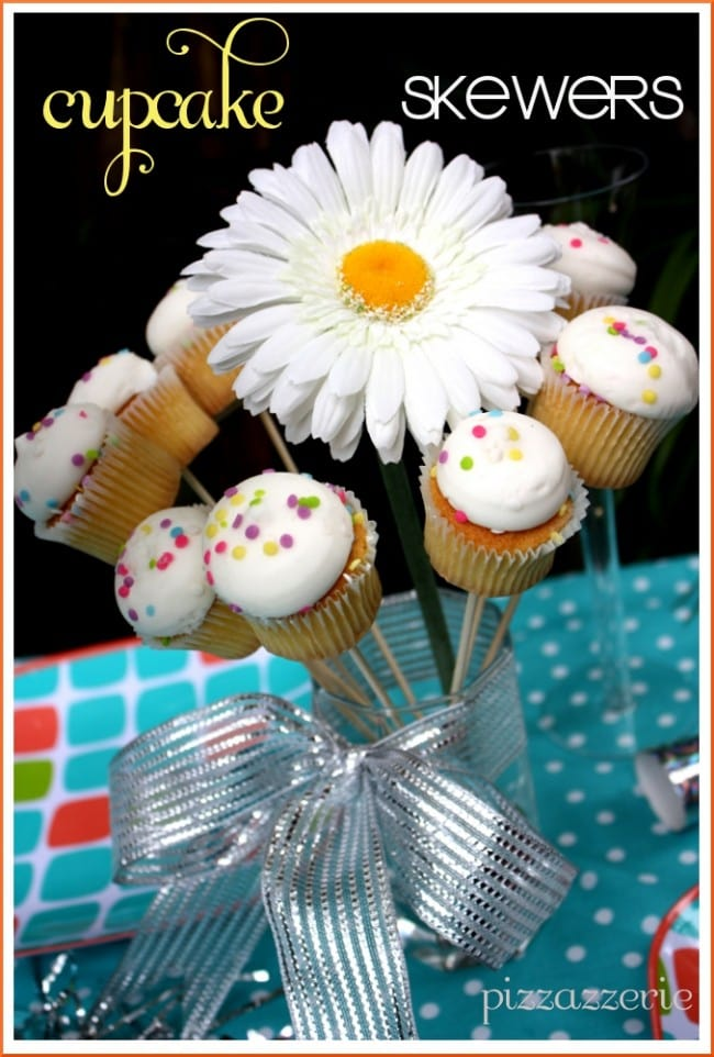 cupcake skewers on a stick