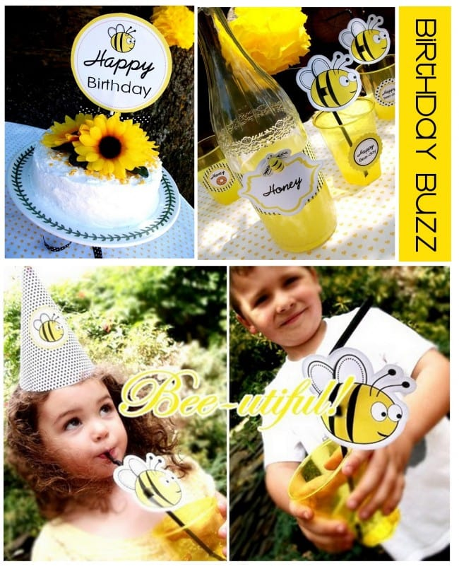 Bumble Bee Yellow Birthday Party
