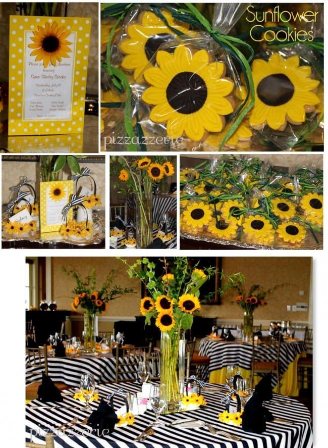 Sunflower Luncheon Pizzazzerie