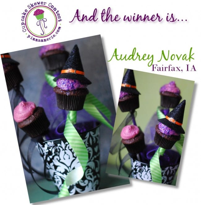 cupcake skewer contest winner audrey novak