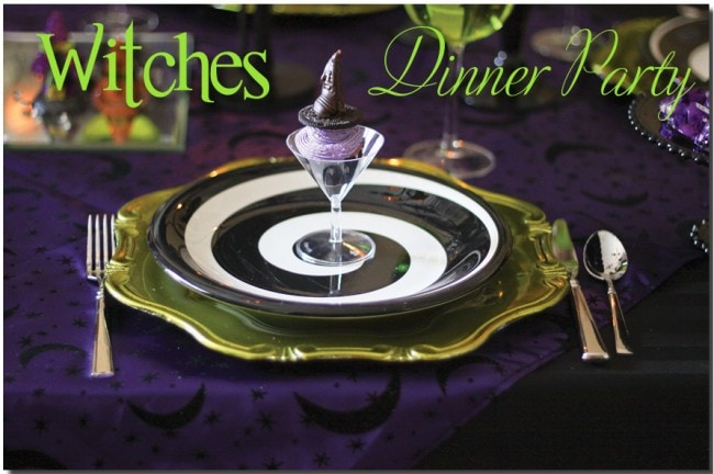 witches dinner party for halloween