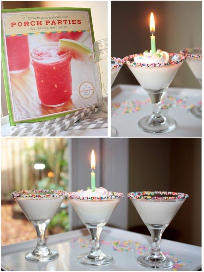 birthday cocktails porch parties