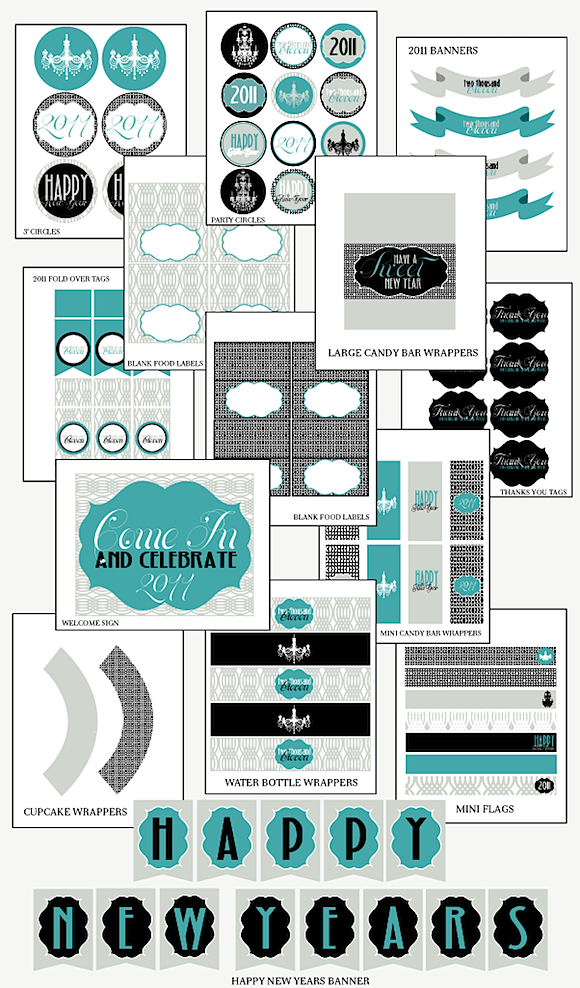 free new years eve printables