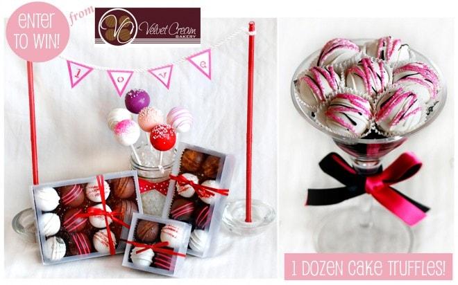 cake truffles valentine's day velvet cream bakery